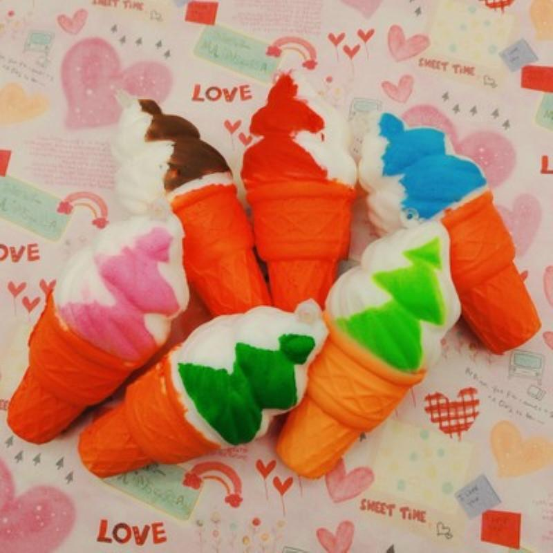 Squishy 10CM Cartoon Simulation Ice Cream Squishies Doll Slow Rising Sweet Scented Charms Food Rebound Bread Kid Toys Decompression
