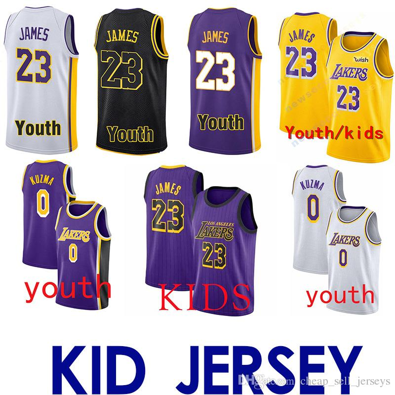lowest price ca4bd 17006 kid Los Angeles 23 LeBron James jersey Laker Brandon Kobe 24 Bryant Kyle 0  Kuzma Lonzobasketball jersey