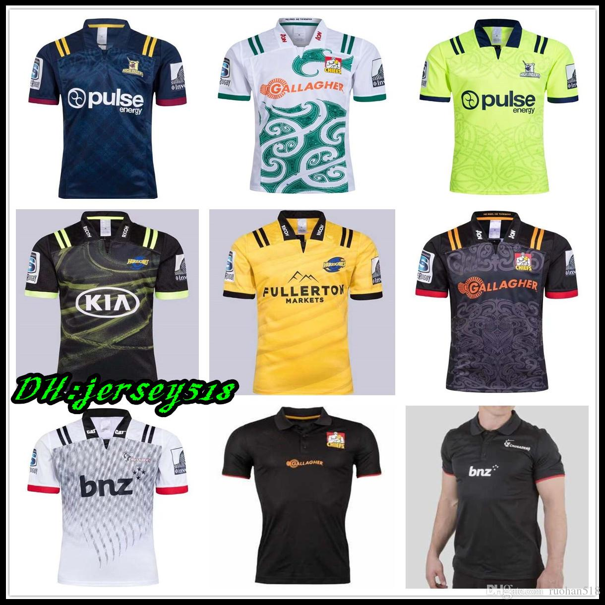 cc1df4d6f00 2018 Chiefs Super Rugby Jersey New Zealand Super Chiefs Blues Hurricanes  Crusaders Highlanders Shirts SIZE: S 3XL Canada 2019 From Ruohan518, ...