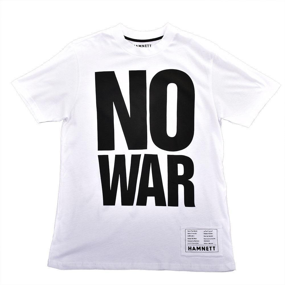 Hamnett No War T Shirt In White Katherine Hamnett Save The World