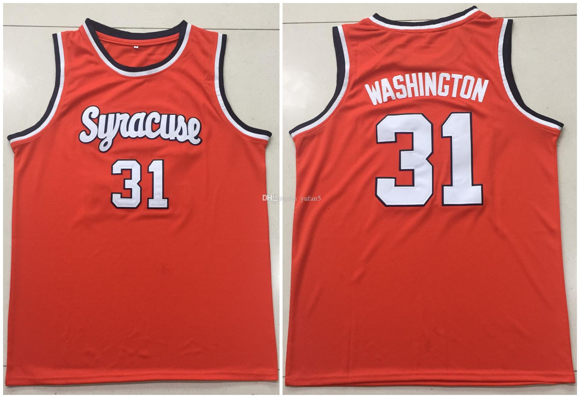 newest c5211 3c58e #31 Dwayne Pearl Washington Syracuse Orange College Retro Classic  Basketball Jersey Mens Stitched Custom Number and name Jerseys