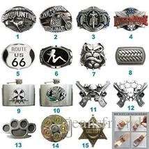 New Cosplay Costume Biker Rider Belt Buckle Mix Styles Choice Stock in US Each Buckle is Unique Choose Your Favorite Buckle Design