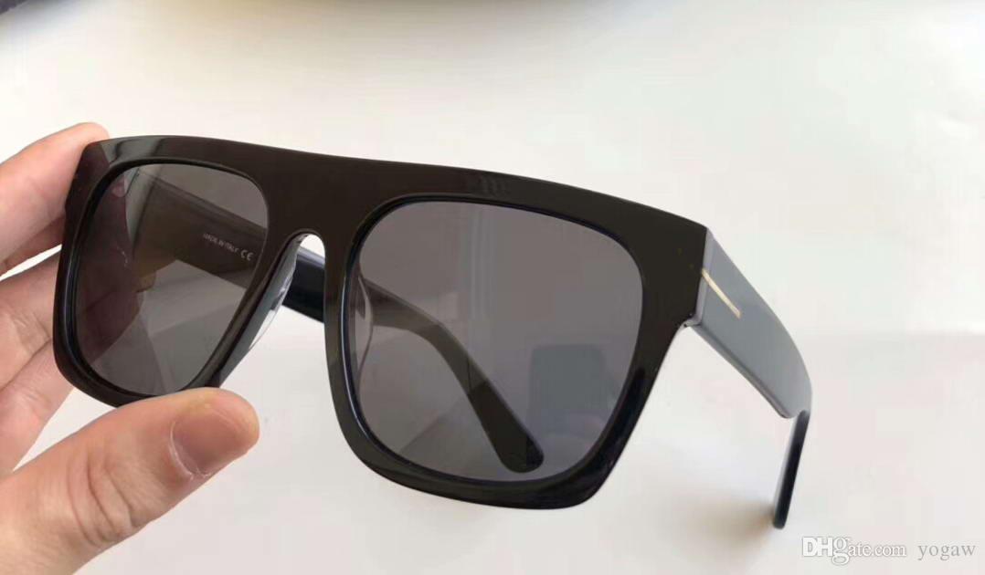 9742f24a82 Compre 0711 Gafas De Sol Cuadradas Oro Negro / Gris Lente De Degradado Gafas  De Sol Para Hombres Gafas De Sol De Diseño De Lujo Gafas De Alta Calidad  Nuevo ...