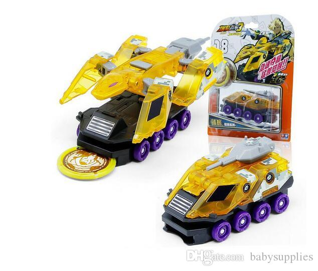 Newest Burst Speed Screechers Wild Deformation Car Action Figures Multiple Chip Capture Wafer 360° Flip Transformation Cars toys