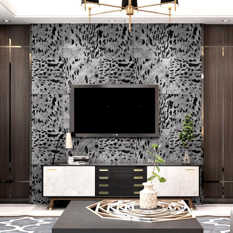Tapeten Für Wohnzimmer | Grosshandel Leopard Wallpaper Tv Hintergrund Tapeten Wohnzimmer