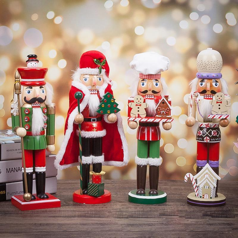 30CM Nutcracker Ornaments Clever Creations Nutcracker Wooden Crafts  Interior Decoration For Christmas Home Party Luxury Christmas Decorations  Make Christmas ... - 30CM Nutcracker Ornaments Clever Creations Nutcracker Wooden Crafts