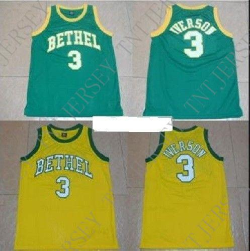 a804041cc17 2019 Cheap Custom Allen Iverson #3 Bethel High School Basketball Jersey  Stitched Customize Any Name Number MEN WOMEN YOUTH JERSEY XS 5XL From  Tntjersey, ...
