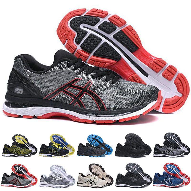 GEL Nimbus 20 Stabilità scarpe da corsa per uomo nero bianco blu mens trainer moda sport sneakers runner
