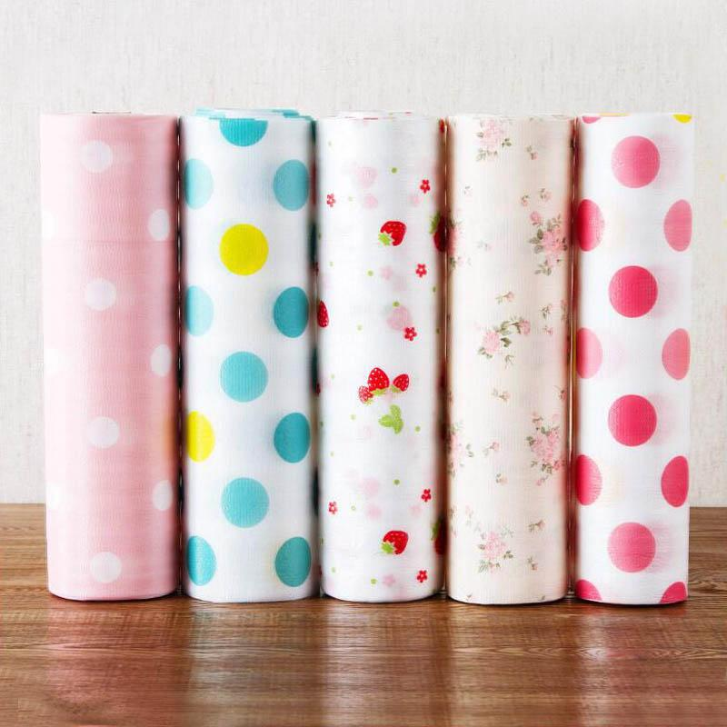 Drawer Paper Waterproof 1 Roll Anti-oil Table Drawer Mat Kitchen Gadgets Table Desk Decoration PET Shelf Liner Contact Paper