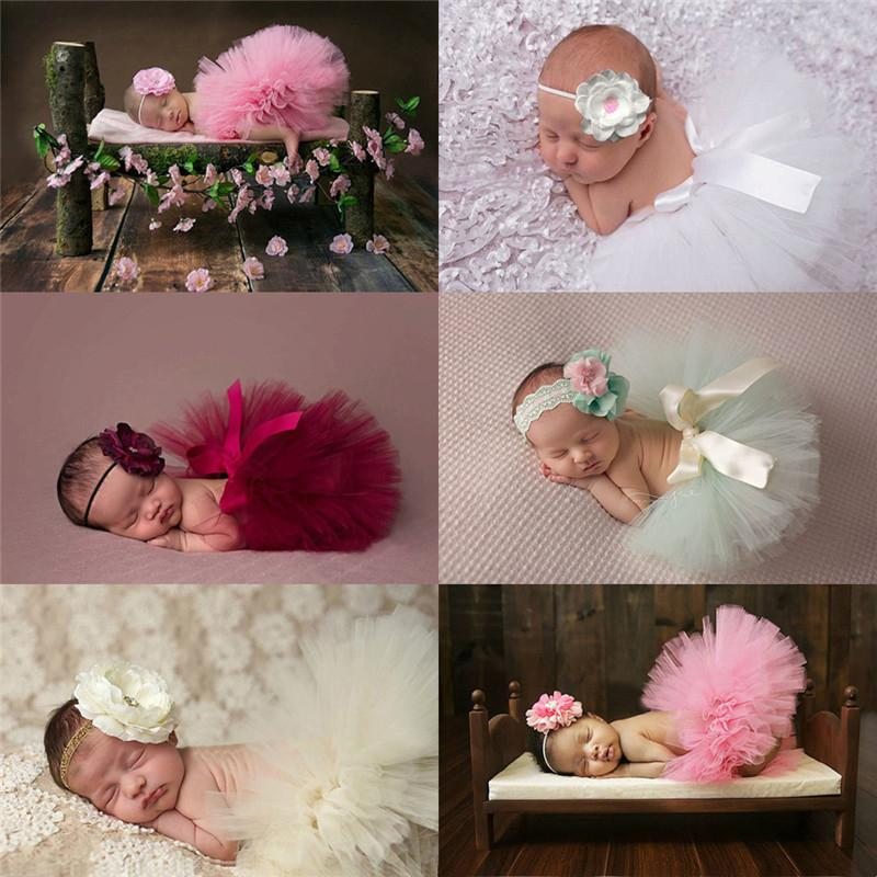 4e224e0f2776 2019 Cute Toddler Newborn Baby Girl Tutu Skirt & Headband Photo Prop  Costume Outfit Baby Toddler Girl Flower Clothes+Hairband Photo From Bradle,  ...