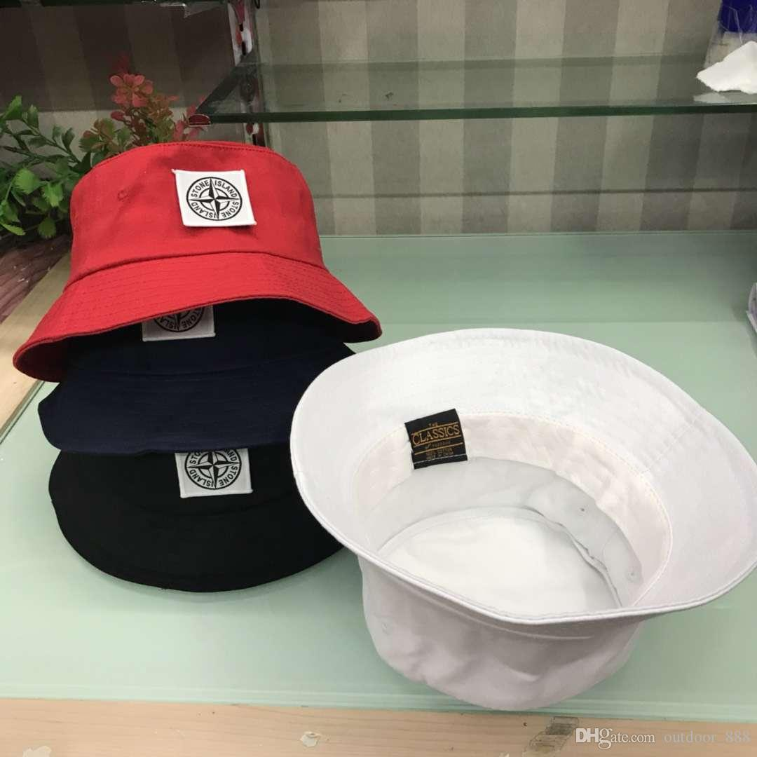 new 4 colors cp stone bucket embroidery hats outdoor caps men women unisex beanies sun hats cotton stingy brim hats