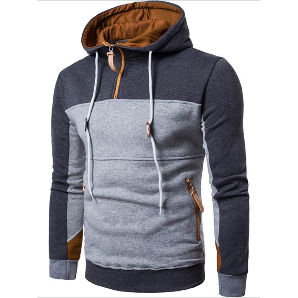 e3c3b5600dd09 Satın Al Sonbahar Kış Erkekler Tişörtü Uzun Kollu Hoodie Kapşonlu Kazak  Ceket Kaban Dış Giyim Erkek Üstleri Gömlek Tops Moda Rahat Mont, $42.44 |  DHgate.
