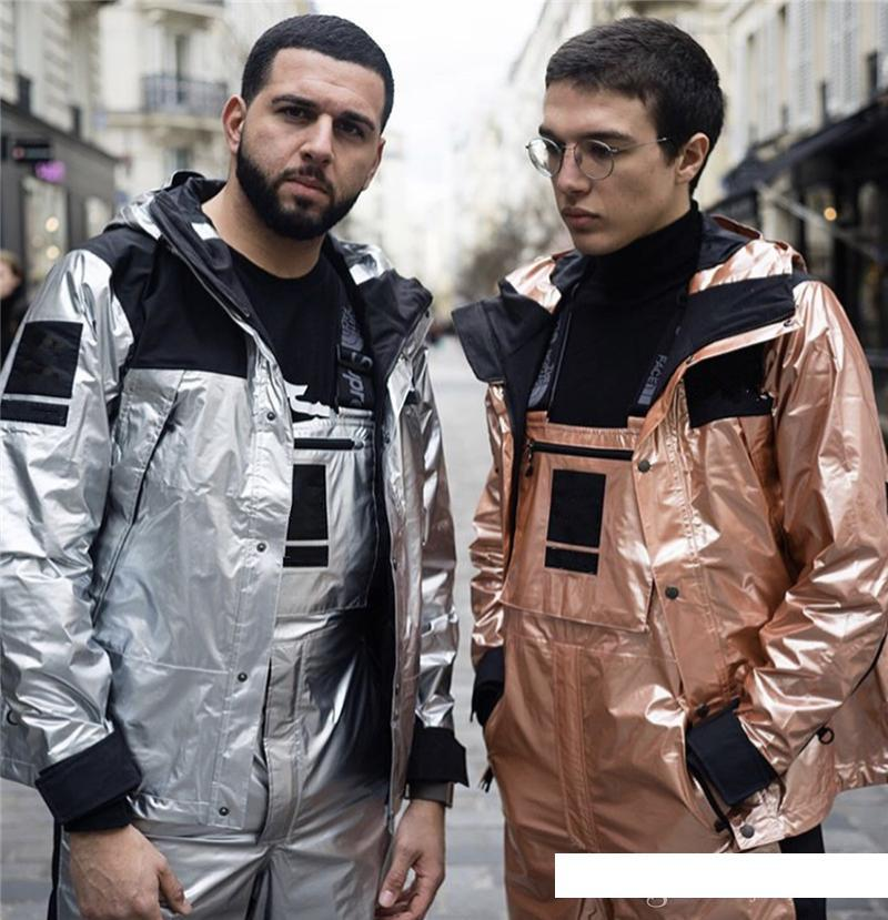 Mens designer jackets Joint name angle skin King coat Loose Hip hop waterproof Tooling silver Gold Silver Copper Gold and silver Loose