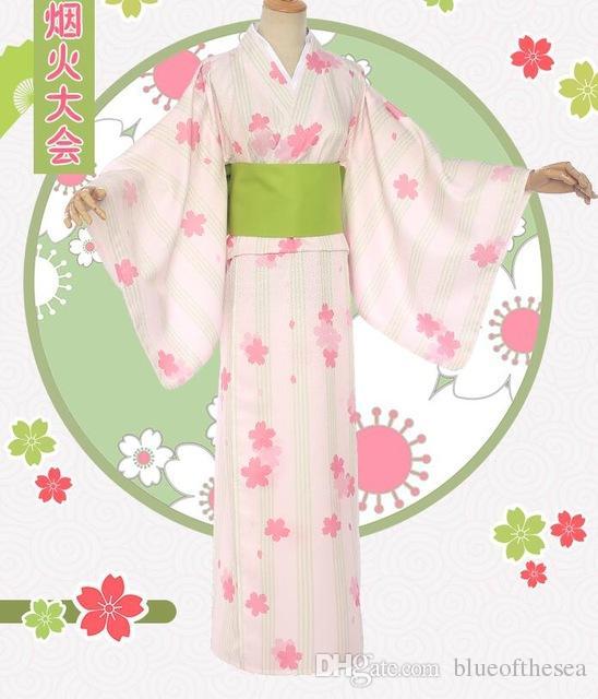 bb8d4cee4 Anime Cardcaptor Card Captor Sakura Kinomoto Sakura Cosplay Costume  Fireworks Kimono Yukata Girls Retro Clothing Party Dress Male Cosplay  Costumes Naruto ...