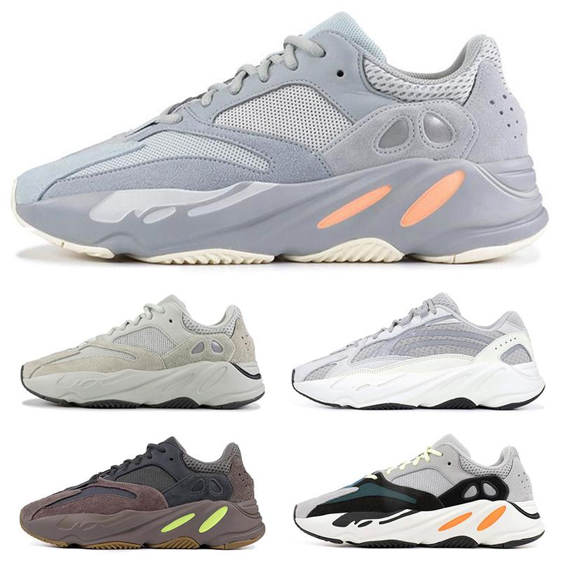 low priced cdce4 91103 Wave Runner 700 V2 Static Inertia Solid Grey Mauve Mens Kanye West Running  Shoes Women Fashion Sports Athletics Sneakers size 36-45