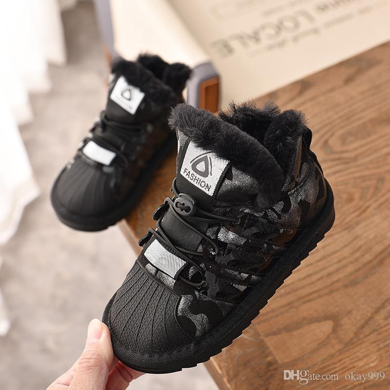6ea359d47e3b82 Girl Boots 2019 Shell Head Chaussure Fille Winter The New Korean Version  Child Snow Boots Girl Booties Cotton Shoes Sequin Baby Boy Tide Girls Boots  Size 6 ...