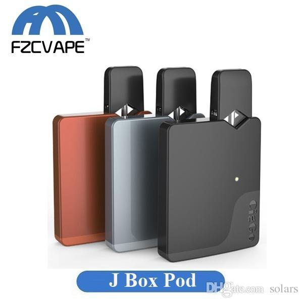 Original Ciggo J Box Pod Kit 550mAh Portable Vape Mod Starter Kit with  0 6ml Ceramic Coil Cartridge JUUL Compatible Jbox Battery