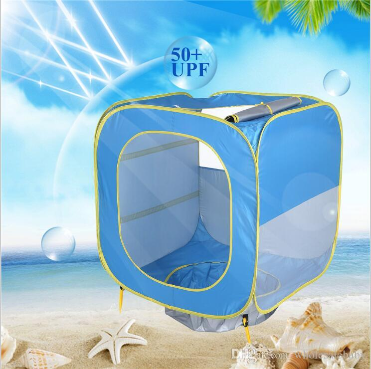 Baby Tents Foldable Pool Tent Kids Play House Indoor Outdoor UV Protection Sun Shelters Children Camping Beach Swimming Pool Toy Tents TL961