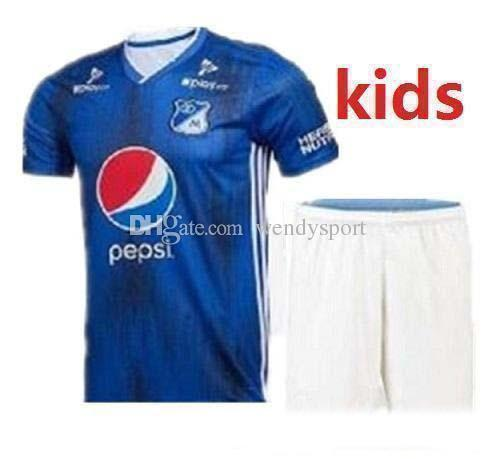 2019 2020 kids millonarios Futbol Club colombia Soccer Jerseys Football Shirt 19 20 Colombia Millonarios home men Soccer jerseys