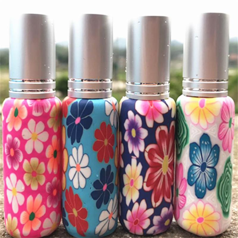 50pcs 10ML Polymer Clay Perfume Bottle Empty Refillable Bottles Travel Perfume Atomizer Small MIni Spray Scent Pump Container