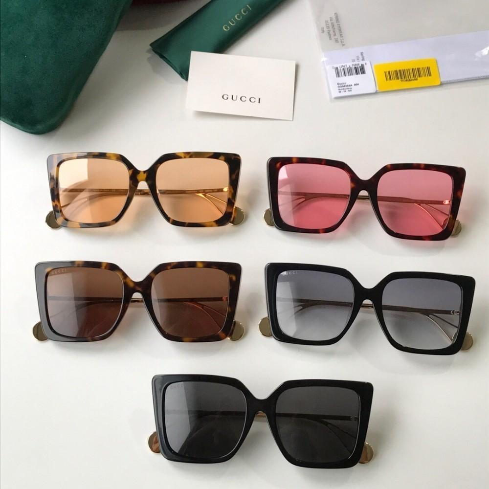 Guc New neutral sunglasses painted metal leg three-dimensional sunglasses best quality sunglasses