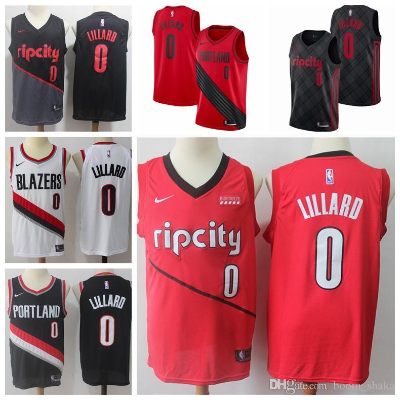 ... australia 2019 2019 new the city edition 0 damian lillard jerseys  stitched mens rip city portland 2c7e14850