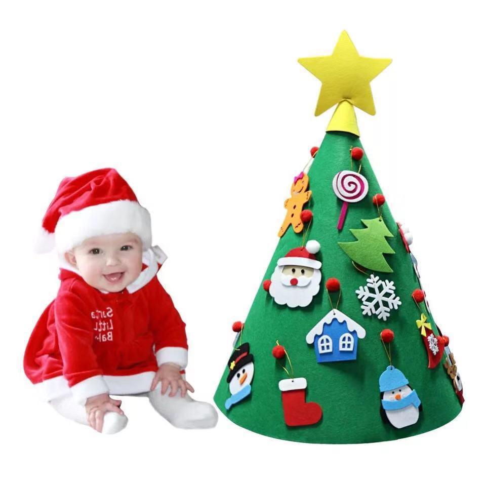 Regali Di Natale Fai Da Te Per Bambini.Natale Fai Da Te Feltro Bambino Albero Di Natale Natale Appeso Ornamenti Regali Di Natale Per Bambini Capodanno 2019 Decor Regalo Navidad