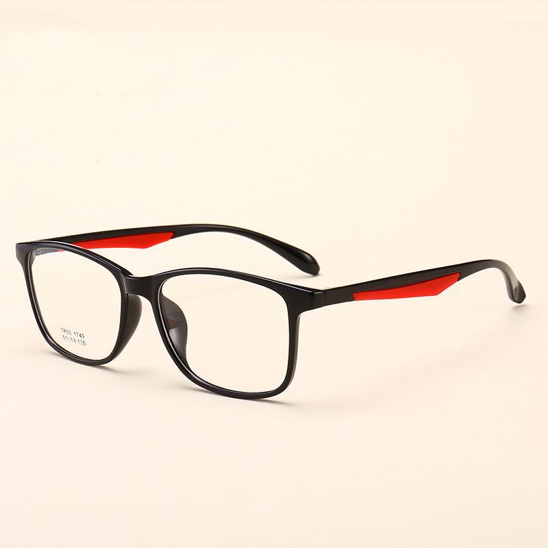 8f42e6f257 2019 Vazrobe TR90 Glasses Frame Men Women Non Prescription Eyeglasses Man Optic  Spectacles Fashion Eyewear Ultra Light From Splendone