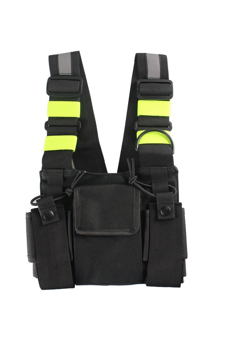 Radio Chest Harness Chest Front Pack Pouch Holster Vest Rig Bag for Walkie Talkie Motorola Baofeng TYT Wouxun