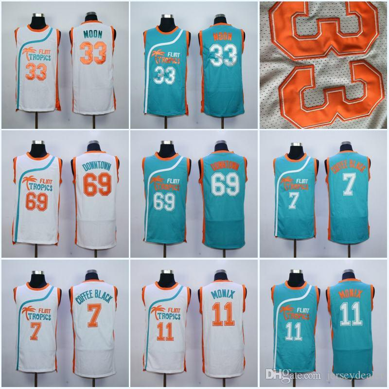 badf8cea179 2019 Mens Flint Tropics Semi Pro Movie Jersey 11 Flint Tropics 7 Coffee  Black 33 Moon Semi 69 Downtown Basketball Jerseys From Jerseydealer, $16.6  | DHgate.