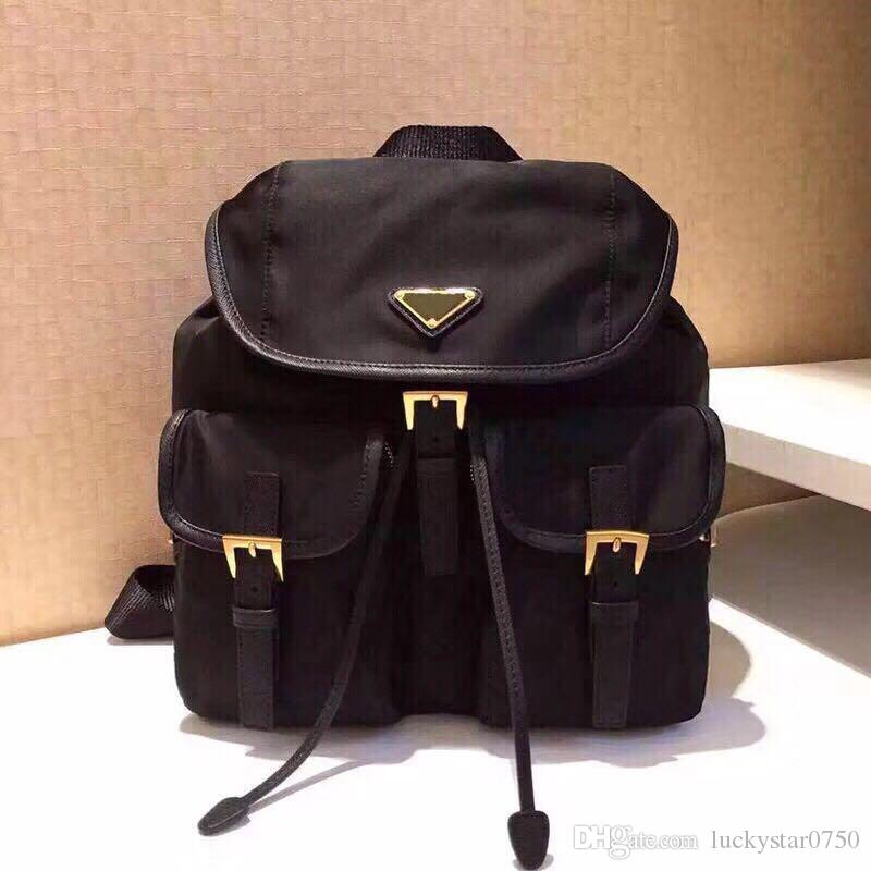 2019Luxury orignal P fashion back pack waterproof shoulder bag handbag presbyopic package messenger bag parachute fabric mobile phone purse