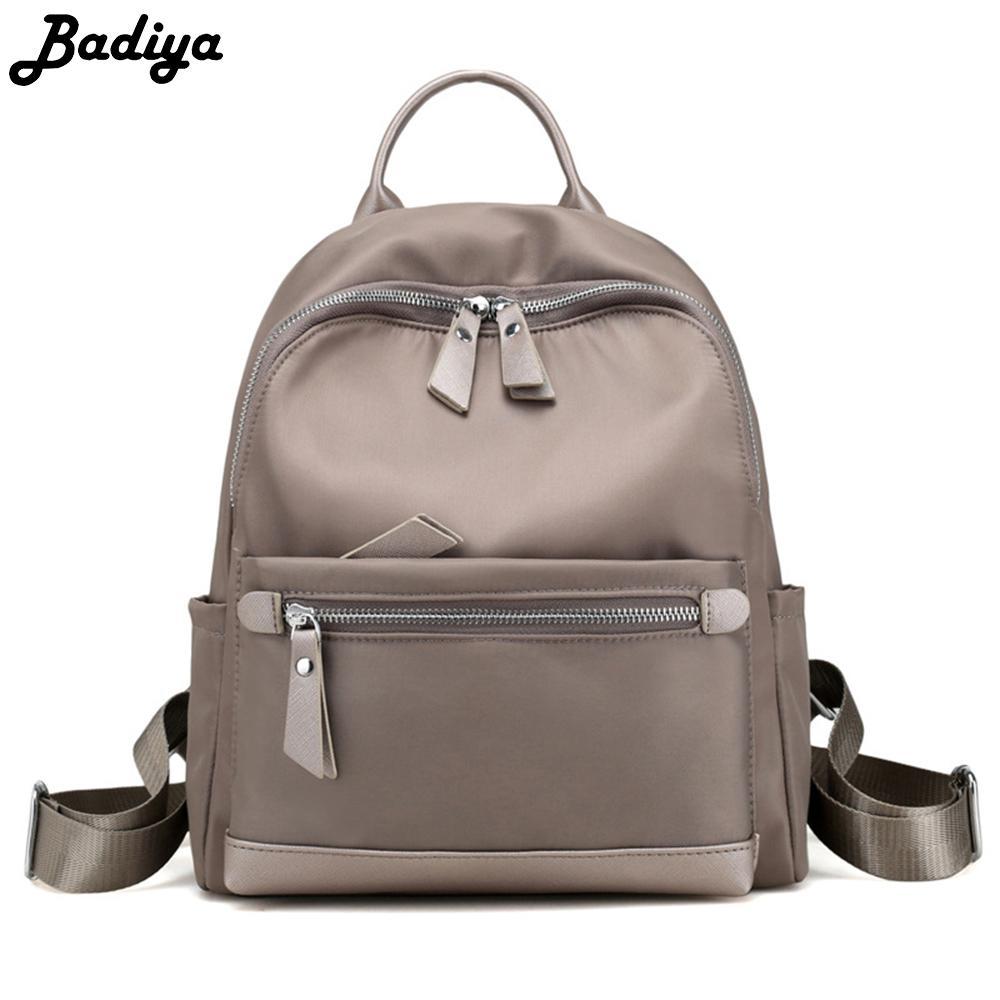 Fashion Women Backpack Nylon All Match Bag Casual Travel Shoulder Bag Solid  Color Stundets Backpack Multifunction Travel Bags Back Packs Rolling  Backpacks ... 7d9eb5e71edb1