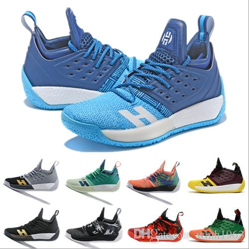 36617c934f44 2019 James Harden Vol.2 Basketball Shoes Mens Harden 2 Gold ...