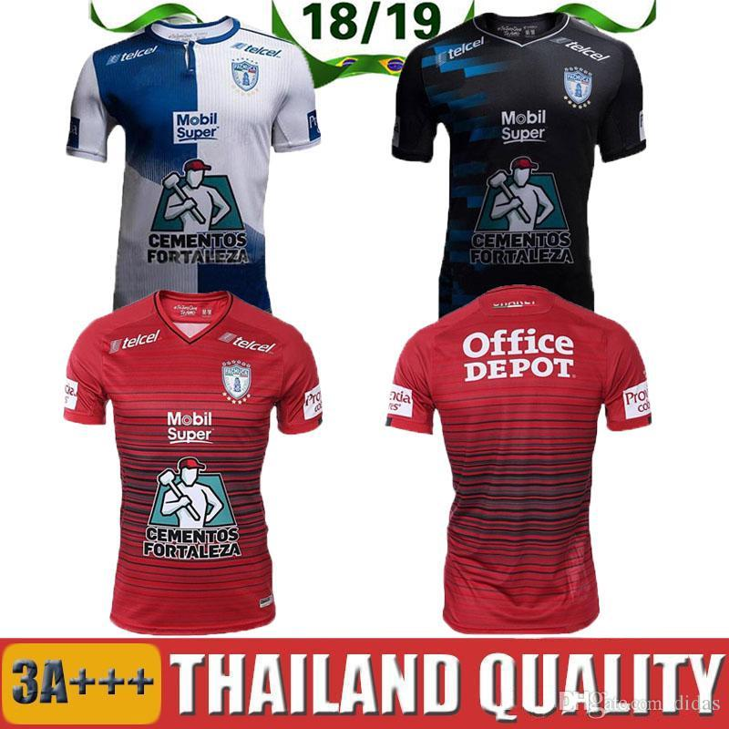 e001c5010 2019 2019 New Pachuca Soccer Jerseys 18 19 Mexico City Home Blue White  Football Shirt 2018 Pachuca FC Away Black Soccer Shirts On Sales From  Didas