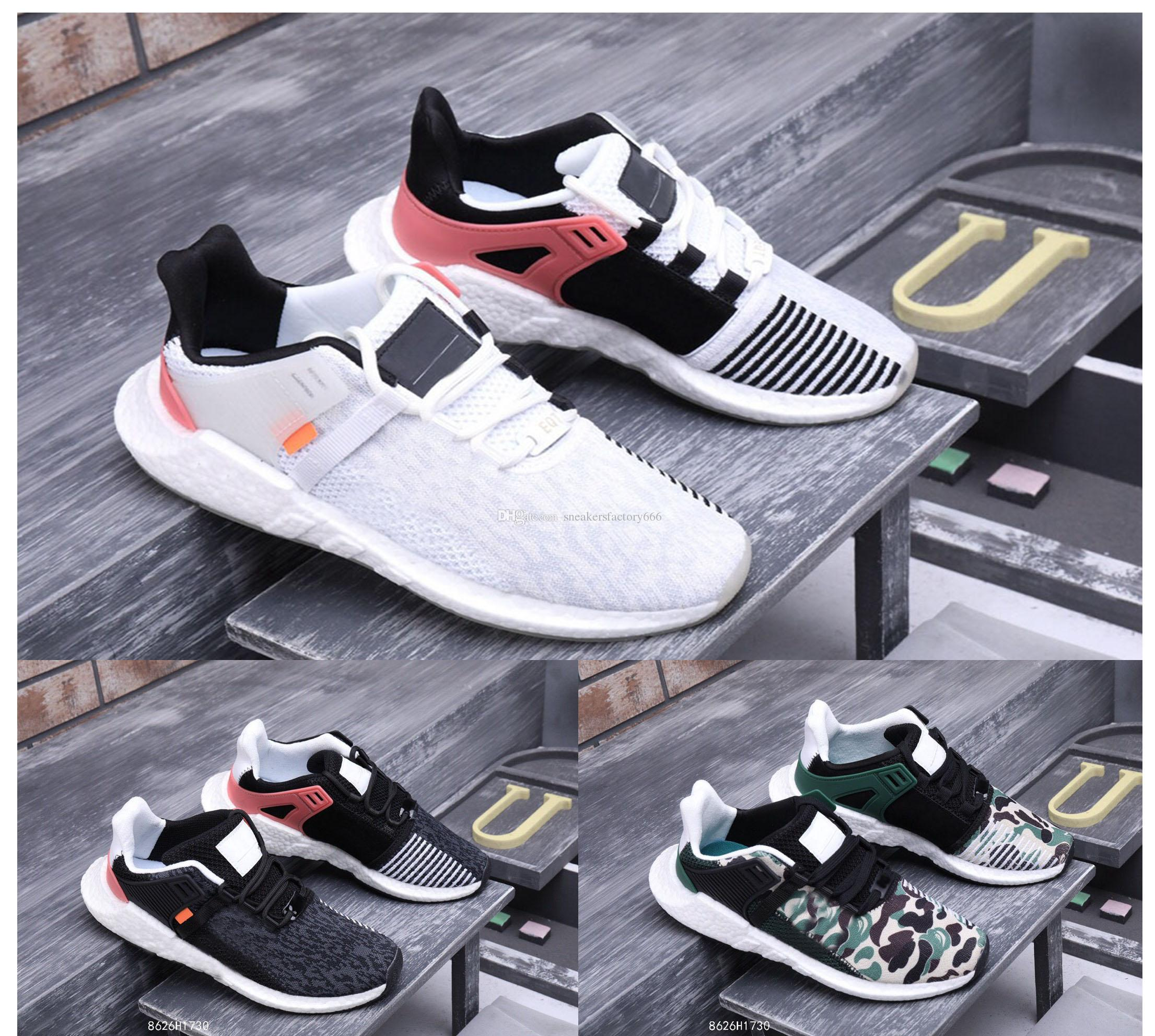 new style 65435 6ff44 Newest Arrival Ultra Boost EQT Support Future Boost 93 17 White Black Man  women casual running shoes size 5.5~11