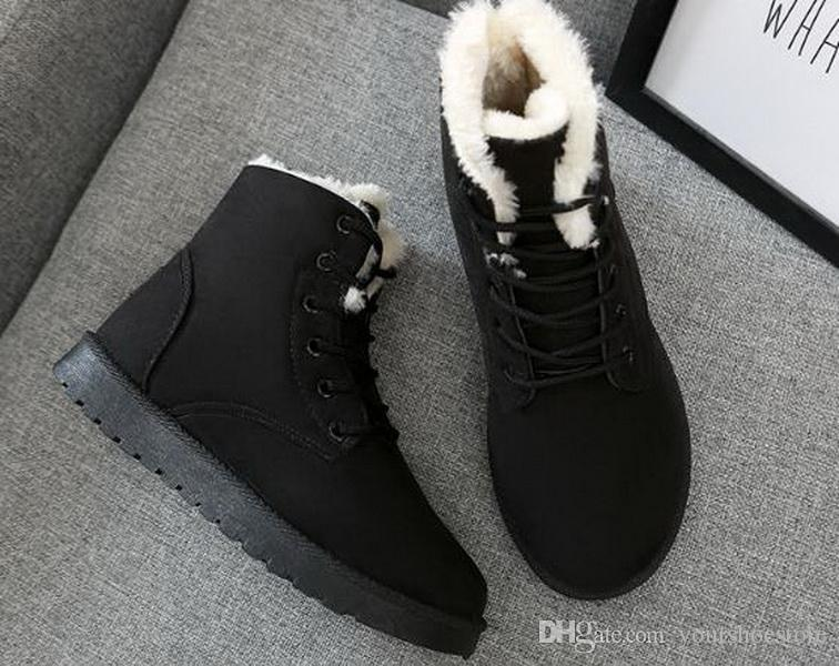 Fashion New Autumn and Winter Snow Shoes Flat-heeled Student Short-barrel Sanding Shoes with Tidal Cotton Shoes well selling Boots