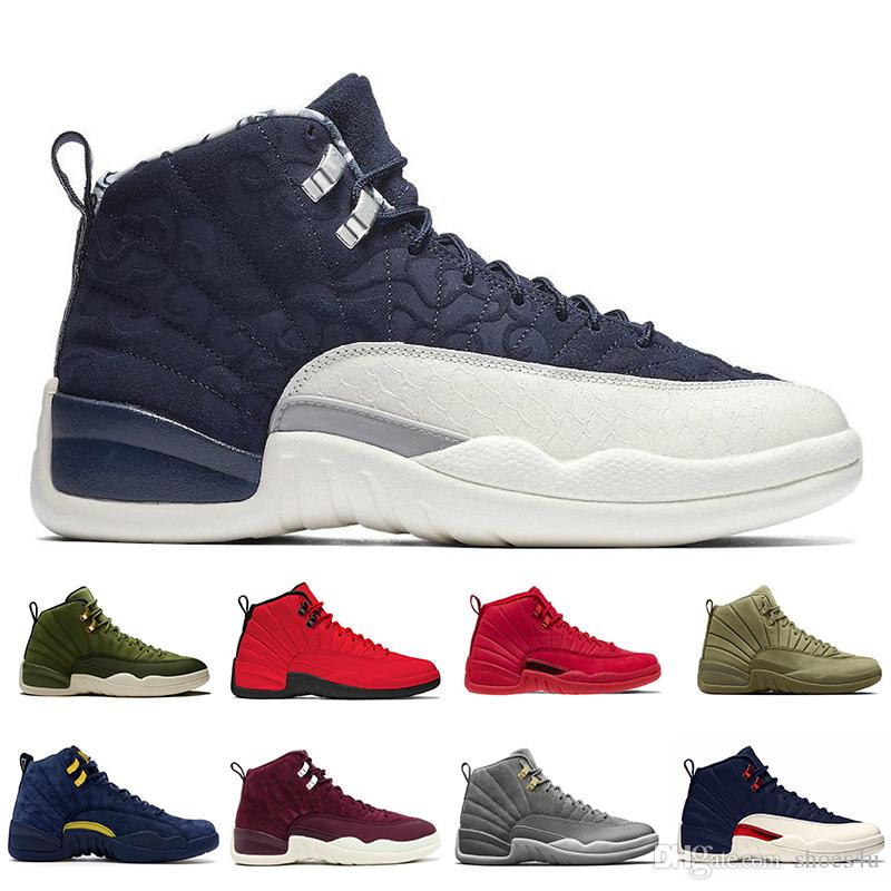 12 12S International Flight Men's and Women's Basketball Shoes Michigan Gym red CLASS OF 2003 Jams mens sports sneakers designer