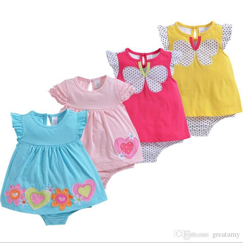 57a9ed18527b 18 Style Baby Boy Girls Bodysuits Fashion Romper Cartoon Print Dot Striped Infant  Baby Bow Bodysuit Rompers Newborn Girls Rompers Infant Girls Jumpsuits ...
