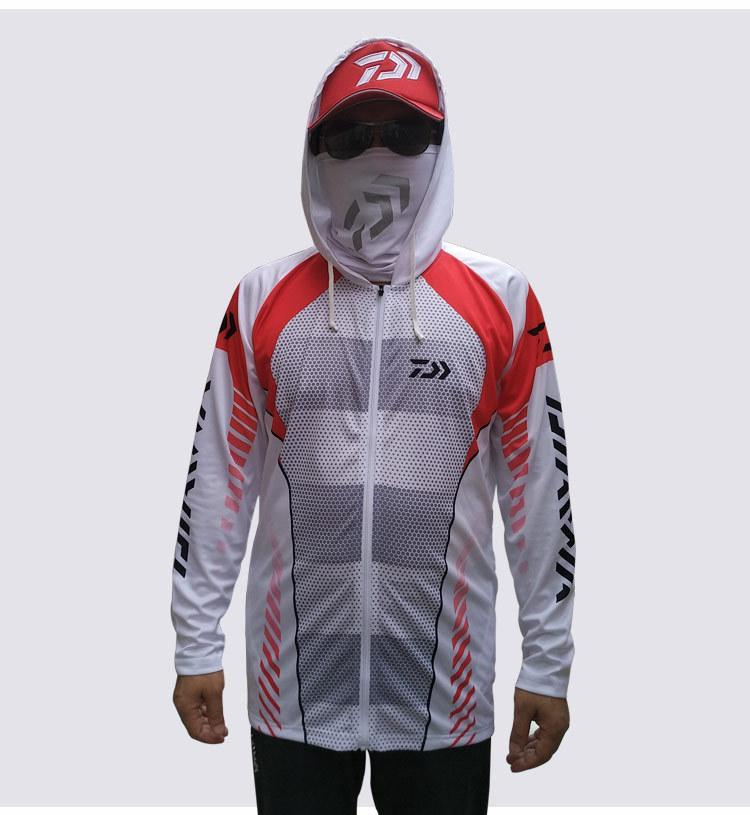 180bf78c0ca Daiwa High Quality Outdoor Men Sportswear Original Creative Design Fishing  Jersey Moisture Wicking Unique Hooded-clothing Red Hiking Shirts Cheap  Hiking ...