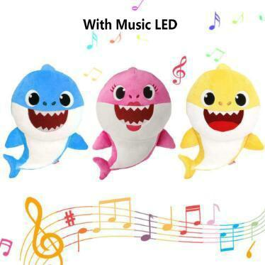 30cm baby shark plush toys with music led light cartoon stuffed rh dhgate com