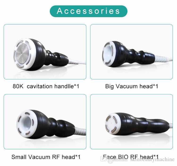Alta calidad 80K Máquina de cavitación ultrasónica de quema de grasa de la celulitis del vacío del retiro de RF cavitación Cavi Lipo Contorno Corporal dispositivo