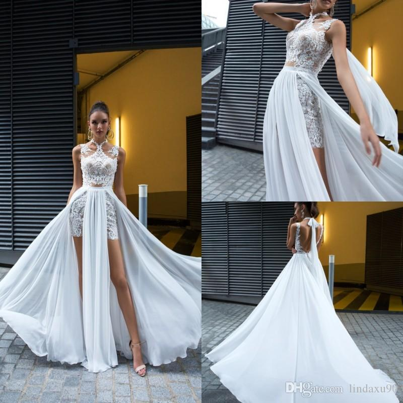 81fef7a8371 ... Dresses Lace Appliqued High Neck Country Bohemian Bridal Dress Informal  Beach Split Wedding Gowns Wedding Dresses On Sale Wedding Dresses Under 200  From ...