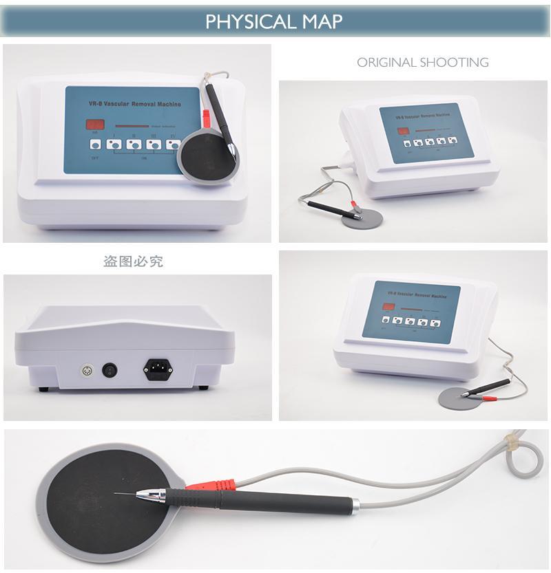 Taşınabilir RF iğne Vasküler Temizleme makinesi Yüz Örümcek Kırmızı Kan Damarlar Kaldır Tedavi Kızarıklık Temizleyici Güzellik Ekipmanları