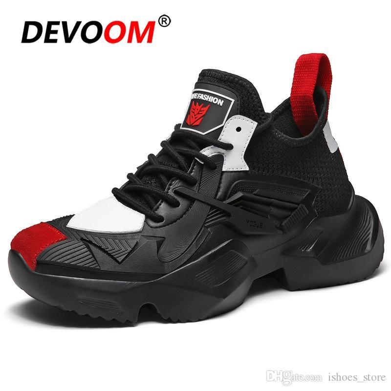 5b64e12f5e Compre Kanye West Sapatos Homens Marca Tênis Brancos 2019 Primavera Homem  Sapatos Casuais Nova Moda Mens Casual Hot Sale Plataforma Snakers   54288  De ...