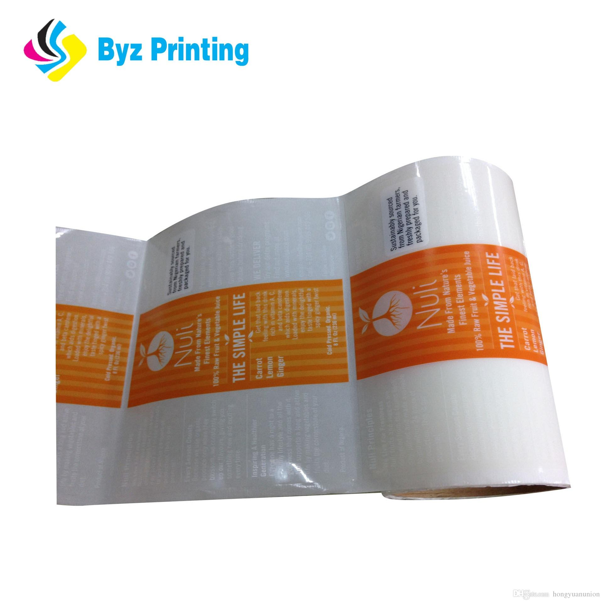 2019 best price custom self adhesive transparent packaging sticker printing waterproof vinyl label with glossy lamination wholesale from hongyuanunion