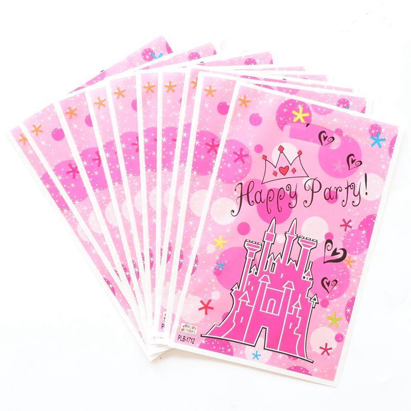 / Princesse Couronne Thème Cadeau Sac De Fête Décoration En Plastique Sac De Bonbons Sac de Butin Pour Enfants Festival Fête Fournitures