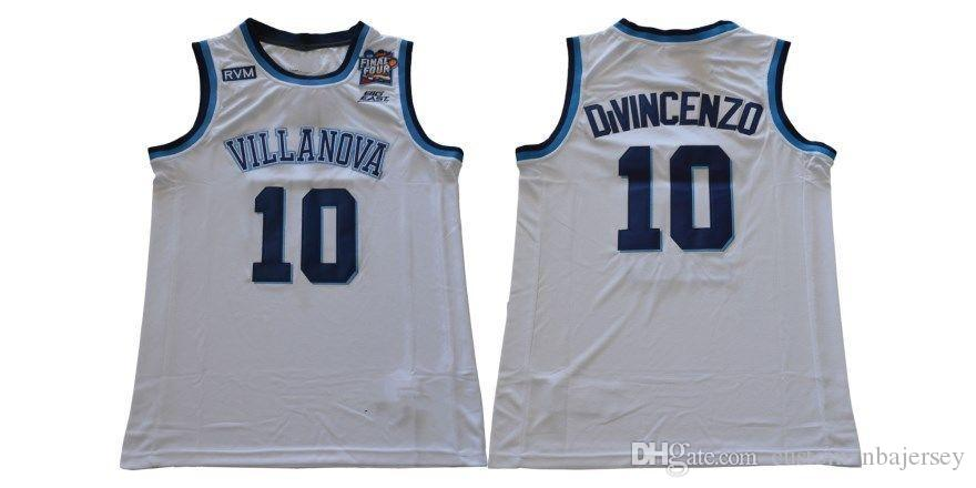 2019 Cheap Custom 2018 Villanova No. 10 Donte DiVincenzo College White  Jersey Stitched Customize Any Number Name MEN WOMEN YOUTH XS 5XL From ... a790624b4