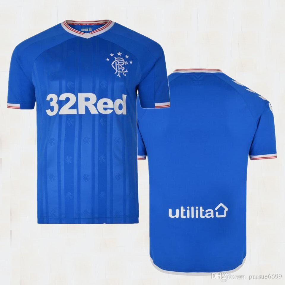the latest c361a bd469 2019 2020 Glasgow Rangers Soccer jersey 19 20 Rangers Katic Arfield Goldson  Morelos Davis halliday BARISIC TAVERNIER KENT football shirt