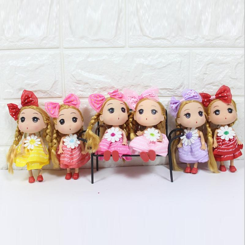 "4.7"" 12cm Baby Doll Cute Girl Dolls Wedding Decoration Keychain Baby Play Dolls Christmas Gifts Toys Bag"