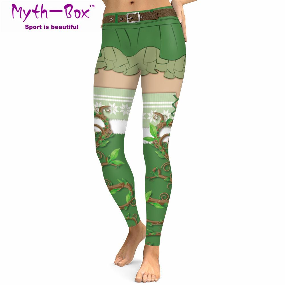 7f3edefde76dd 2019 Christmas Women Sport Leggings Winter Festival Trouser Plant Printed  Gym Pants Santa Claus Cospaly Costume Capris Fitness Tights From Bluelike,  ...